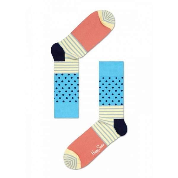Happy Socks SD01 csíkos és pöttyös zokni