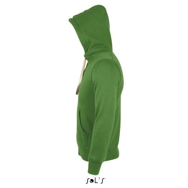 Sols 00584 unisex bélelt cipzáros kapucnis pulóver