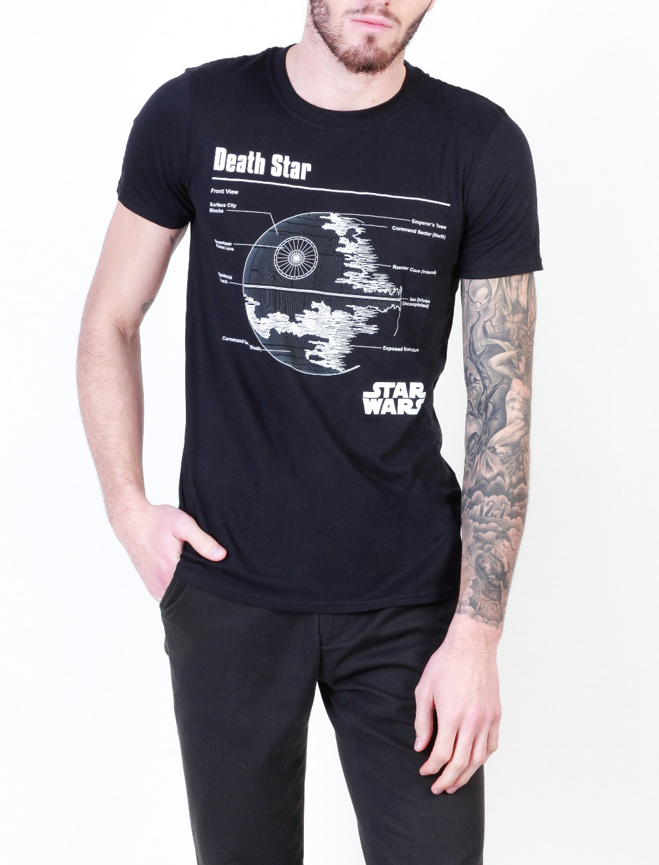 Star Wars Death Star férfi rövid ujjú póló -   hdiShop.hu   2607bcde16